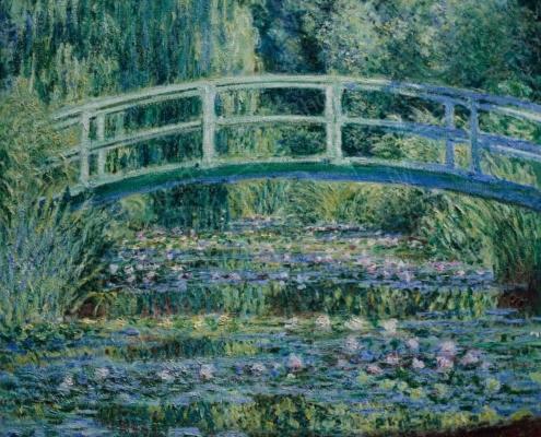Monet, stagno delle ninfee con ponte giapponese