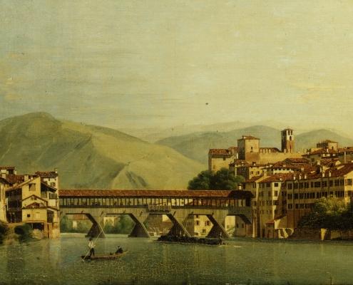 dipinto con il Ponte di Bassano